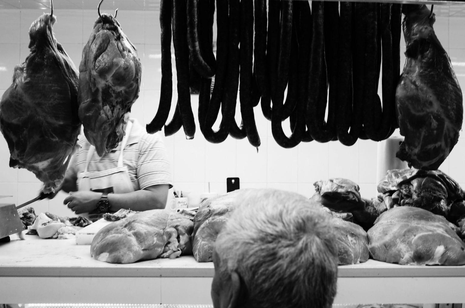 Mondaine black and white photograph
